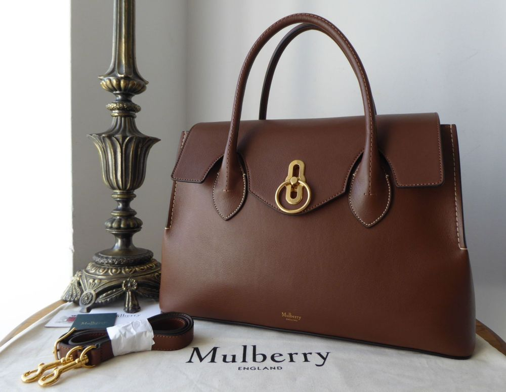 Mulberry Seaton in Tan Silky Calf Leather - New