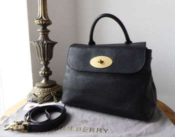 Mulberry Dorothy Satchel in Black Natural Vegetable Tanned Leather - SOLD