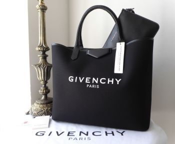 Givenchy Large Logo Printed Antigona Shopping Tote in Black Canvas & Leather - SOLD