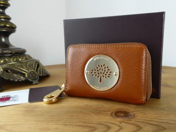 Mulberry Daria Small Zip Around Card Coin Purse in Oak Soft Spongy Leather - SOLD