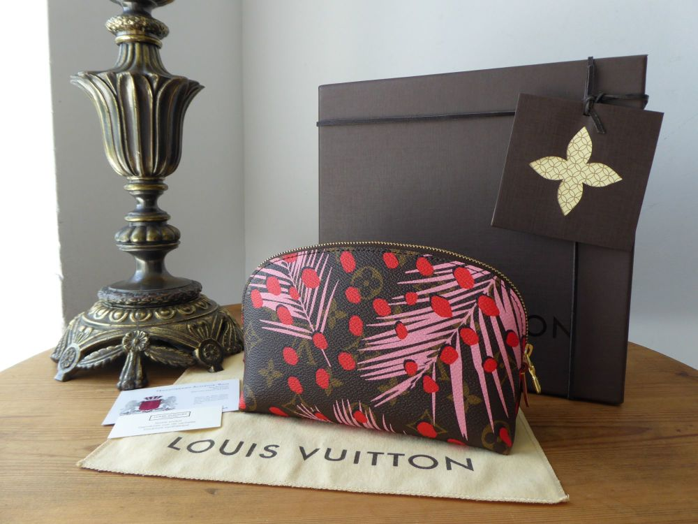 Louis Vuitton Limited Edition Zipped Cosmetic Pouch in Jungle Palm Sugar Pi