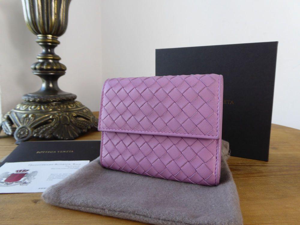 Bottega Veneta Small Wallet in Corot Intrecciato Nappa