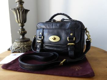 Mulberry Alexa Postmans Lock Camera Bag in Black Buffalo Leather - SOLD