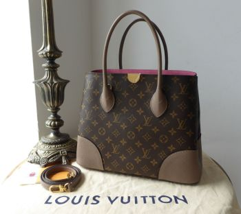 Louis Vuitton Flandrin Tote in Monogram Taupe Glace