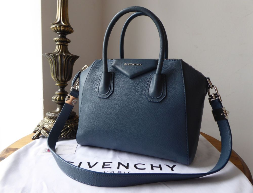 Givenchy Antigona in Cornflower Blue Sugar Goatskin