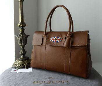 Mulberry Union Jack Classic Heritage Bayswater in Oak Natural Vegetable Tanned Leather