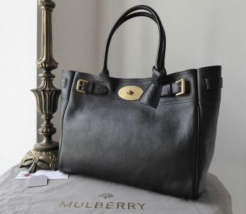 Mulberry Classic Bayswater Tote in Black Natural Vegetable Tanned Leather - As New