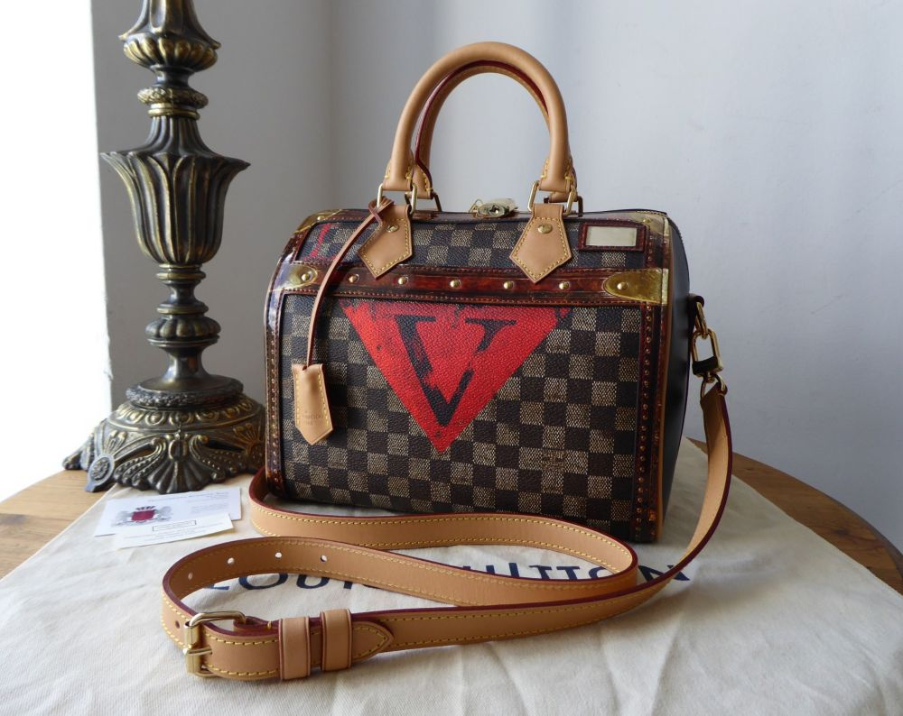 Louis Vuitton Limited Edition Time Trunk Speedy  Bandoulière 25
