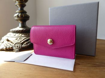 Mulberry Dome Rivet Card Case in Mulberry Pink Glossy Goat - New