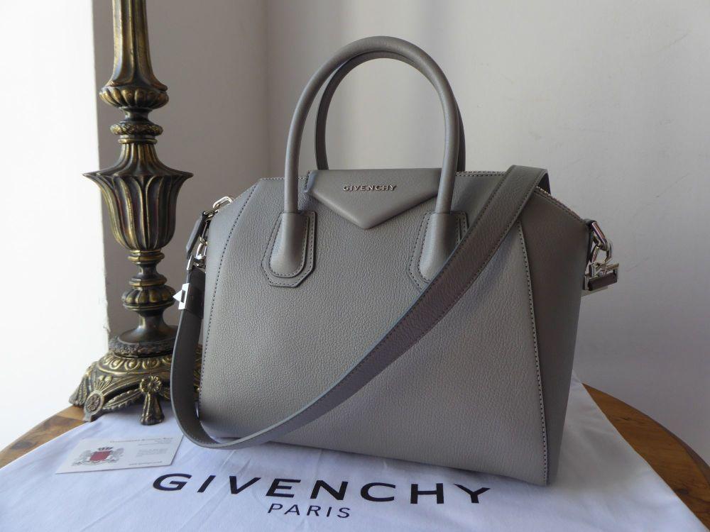 Givenchy Antigona Small in Pearl Grey Sugar Goatskin