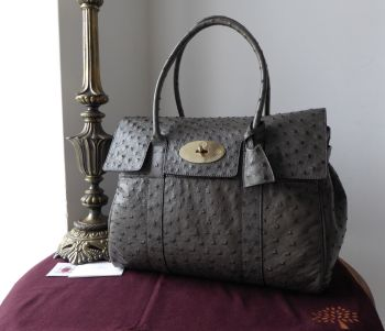 Mulberry Classic Heritage Bayswater in Mole Grey Ostrich Leather