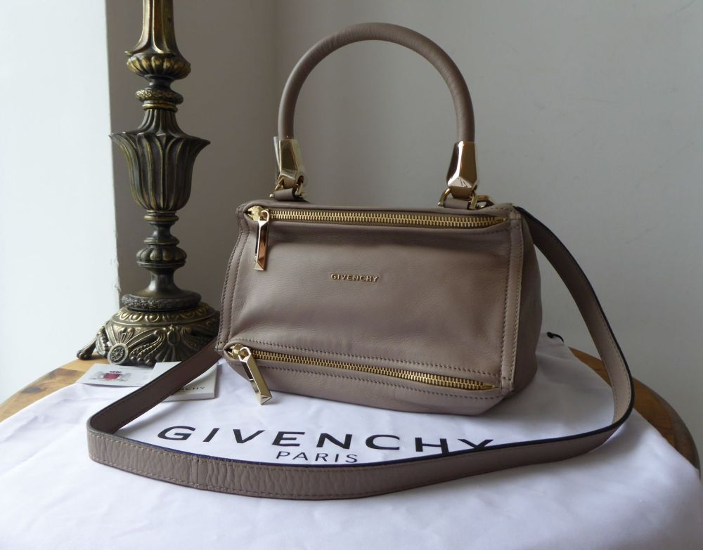 Givenchy Small Pandora in Taupe Hemp Grained Calfskin