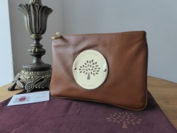 Mulberry Daria Medium Zip Pouch in Oak Soft Spongy Leather - As New*