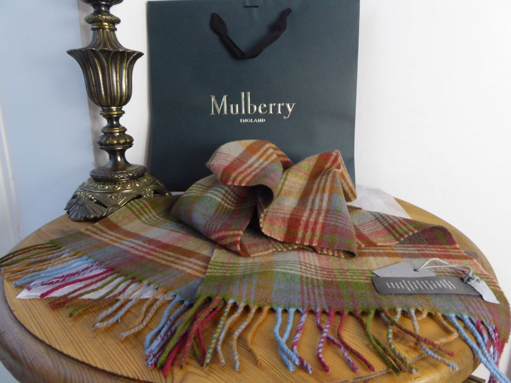 Mulberry Lambswool Scarf in Ancient Check Tartan - New*