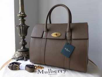 Mulberry Bayswater with Strap in Clay Small Classic Grain Leather - New*