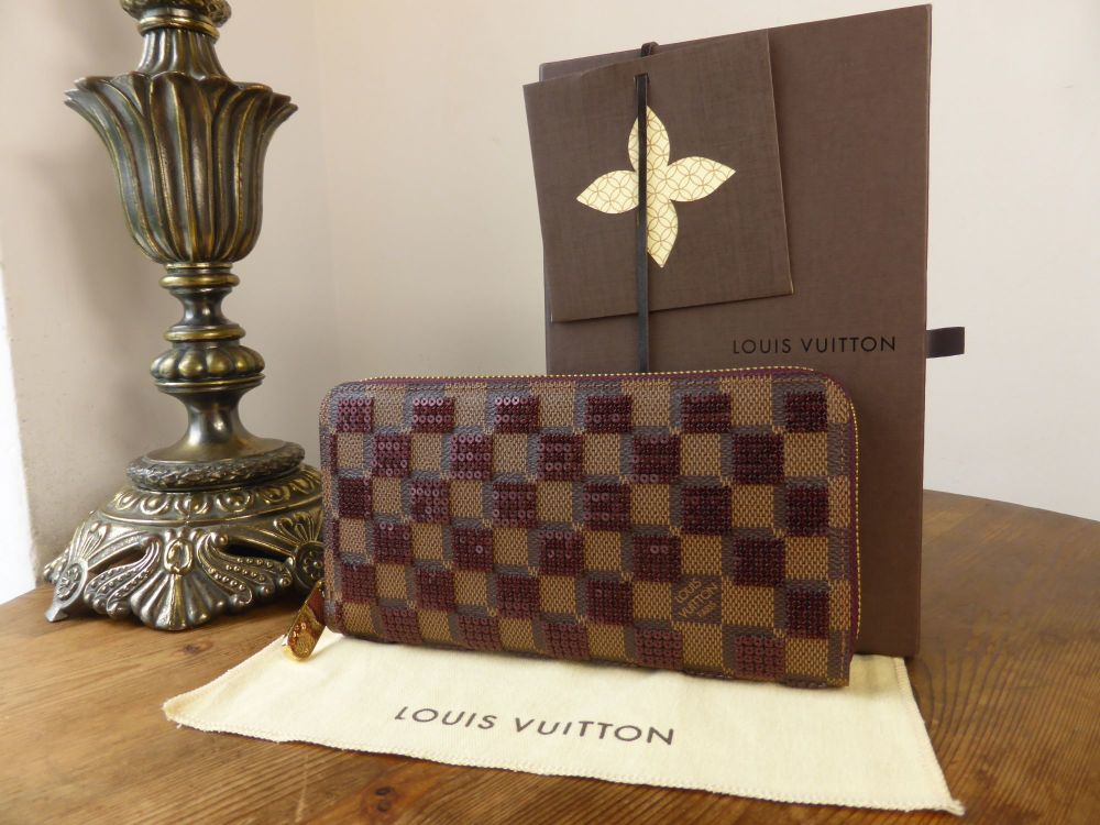 Louis Vuitton Limited Edition Damier Paillettes Zippy Continental Wallet- A