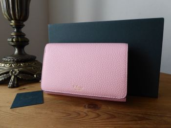 Mulberry Medium Continental French Purse Wallet in Pink Sorbet Small Classic Grain - New