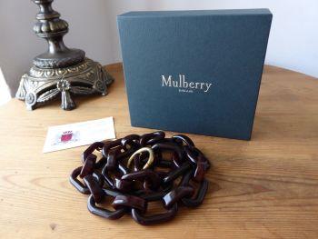 Mulberry Acetate Shoulder Strap in Dark Brown & Golden Brass
