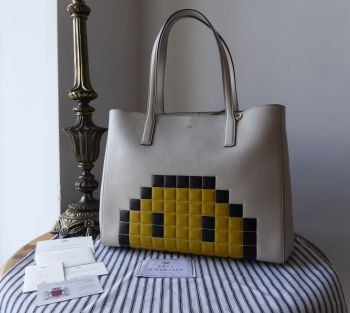 Anya Hindmarch Ebury Pixel Smiley Shopper Tote