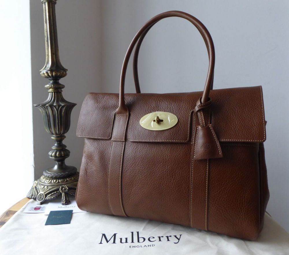 Mulberry Heritage Bayswater in Dark Oak Natural Vegetable Tanned Leather wi