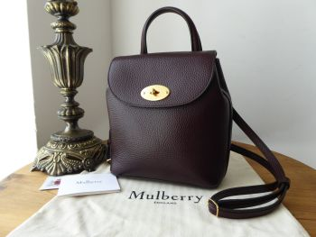 Mulberry Mini Bayswater Backpack in Oxblood Grained Vegetable Tanned Leather - sold