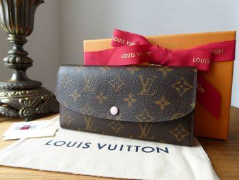 Louis Vuitton Emilie Continental Purse Wallet in Monogram Rose Ballerine