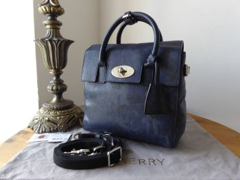 Mulberry Cara Delevingne Mini Backpack in Midnight Blue Camo Printed Goat