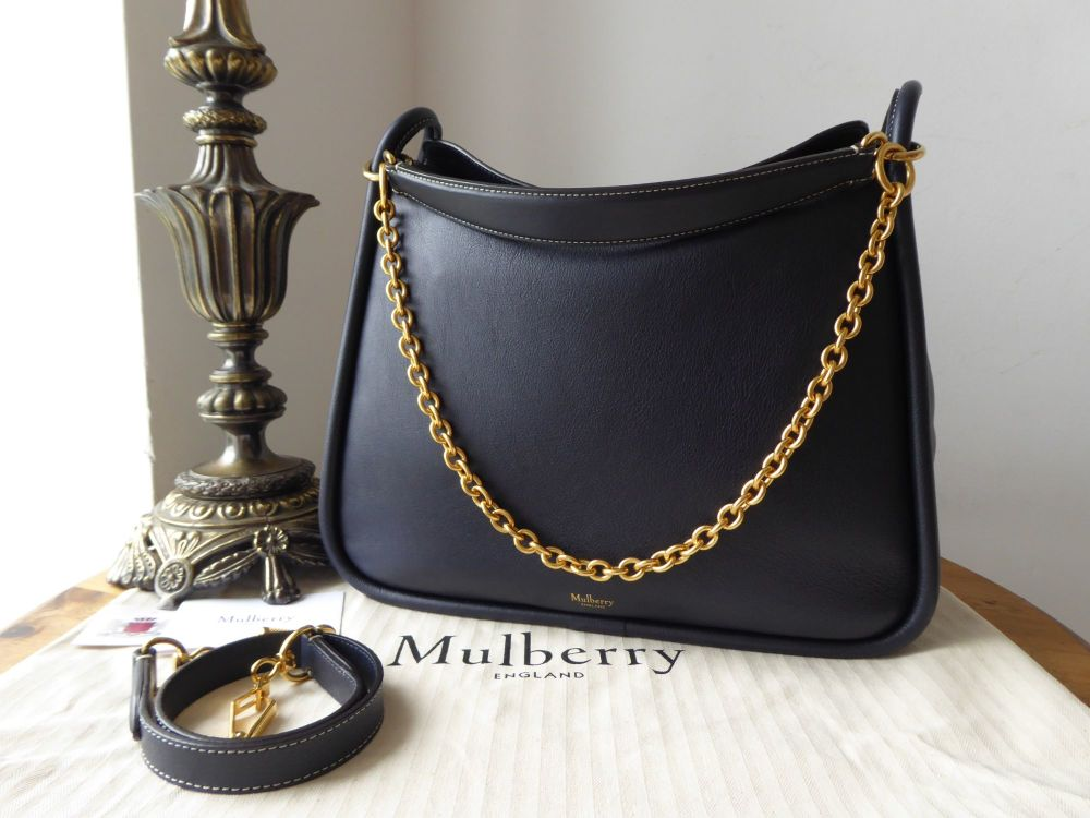 Mulberry Large Leighton in Navy Silky Calf - New*
