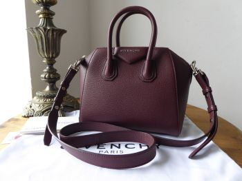 Givenchy Mini Antigona Sugar in Oxblood Red Goatskin - As New