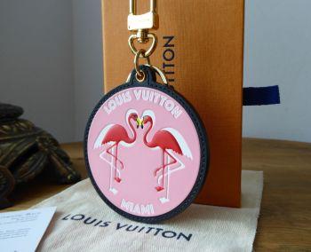 Louis Vuitton 'Miami' World Tour Flamingo Keyring Bag Charm - Sold