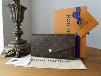Louis Vuitton Sarah Continental Wallet Purse in Monogram