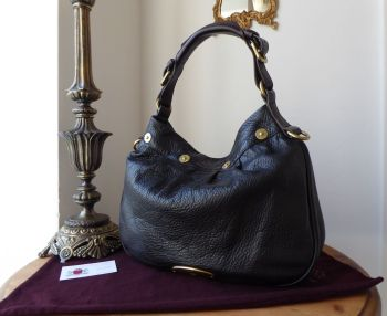 Mulberry Mitzy Shoulder Hobo in Black Pebbled Leather