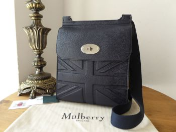 Mulberry New Antony Messenger in Union Jack Flag Embossed Midnight Small Classic Grain - SOLD