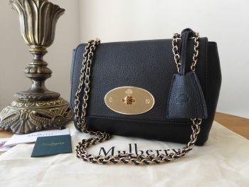 Mulberry Regular Lily in Black Glossy Goat with Shiny Gold Tone Hardware - SOLD