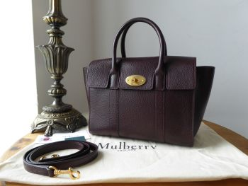 Mulberry Small Bayswater in Oxblood Grained Vegetable Tanned Leather