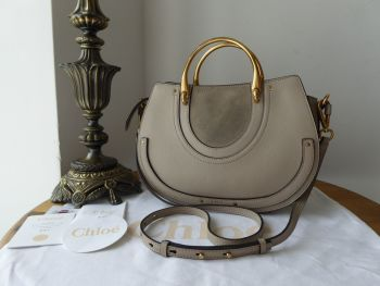 Chloé Pixie in Pastel Grey Goatskin and Suede - SOLD