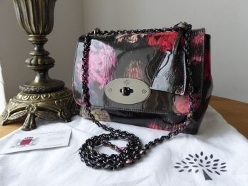 Mulberry Regular Lily in Scribbly Floral Patent Leather - SOLD