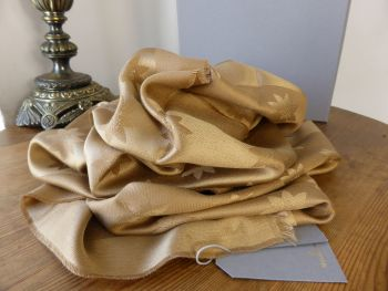 Mulberry Monogram Star Jacquard Scarf in Camel Silk & Wool - New