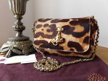 Mulberry Lily Leopard Plaque in Giant Leopard Print Haircalf - As New