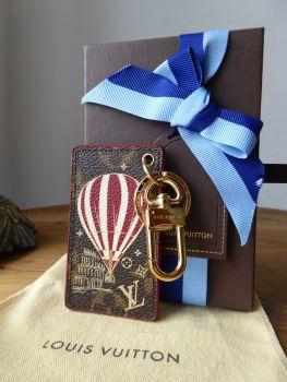 Louis Vuitton Illustré Air Balloon Monogram Keychain Bag Charm Key Ring - SOLD