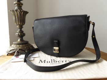 Mulberry Tessie Satchel in Black Classic Grain Leather - SOLD