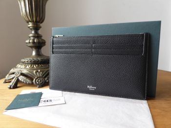 Mulberry Travel Card Holder in Black Small Classic Grain Leather - As New