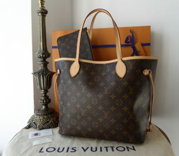 Louis Vuitton Neverfull MM in MonogramBeige - As New