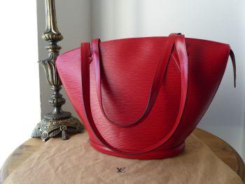 Louis Vuitton St Jacques GM Shoulder Bag in Epi Carmine Red