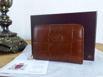 Mulberry Vintage Bifold Zip Around Wallet Purse in Chestnut Congo Leather