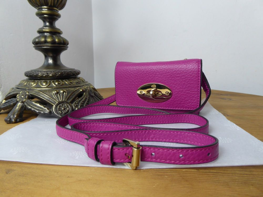 Mulberry Bayswater Mini Micro Messenger in Hot Fuchsia Spongy Pebbled Leath