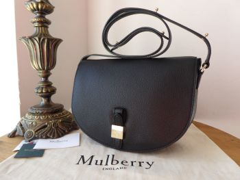 Mulberry Tessie Satchel in Black Small Classic Grain Leather - New