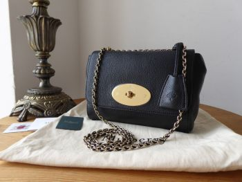 Mulberry Regular Lily in Black Glossy Goat with Shiny Gold Tone Hardware
