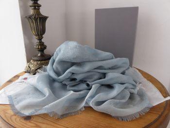 Mulberry Tamara Square Scarf Wrap in Powder Blue 100% Cotton
