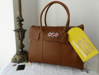 Mulberry Limited Edition Selfridges Union Jack Lock Classic Heritage Bayswater in Oak Natural Vegetable Tanned Leather - New*